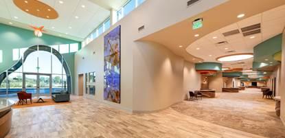 Photo of a healthcare center's lobby
